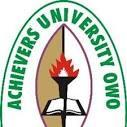Achievers University Admission Form