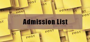 YSU Direct Entry Admission List