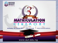 Anchor University Lagos Matriculation Ceremony