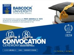 Babcock University Convocation Ceremony Date