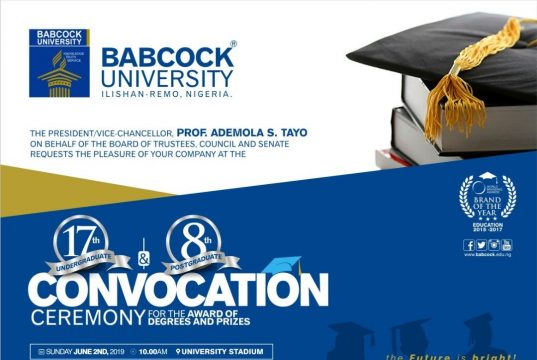 Babcock University Convocation Ceremony Date