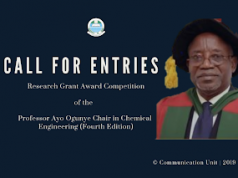 Prof. Ogunye Research Grant Award Competition