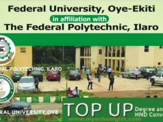 FUOYE - Federal Poly Ilaro Top-Up/Conversion Form 2019/2020