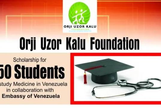 Orji Uzor Kalu Foundation Scholarship Programme 2021